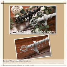 30mm single or double curtain pole aluminium alloy curtain rod manufacturers