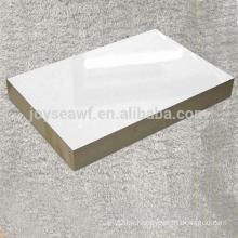 White color melamine laminated MDF