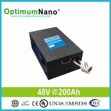 Bateria solar do íon de lítio 48V 200ah para o sistema 10kwh solar