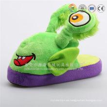 zapatos interiores de animales de felpa