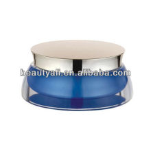 scallop blue acrylic cosmetic jar for cream