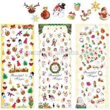 Design d'hiver Art Stickers pour Noël Stickers Eau Flocons de neige Archets BIG SHEET