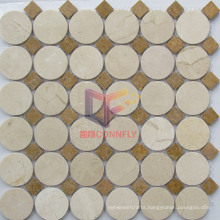 Round and Square Mixed New Marble Mosaic (CFS1009)
