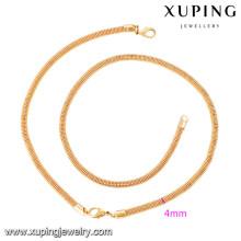 63919 Xuping nouveau design plaqué or bracelet et ensembles de collier