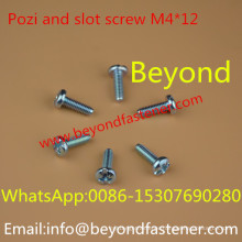 Pozi and Slot Bolts Screw