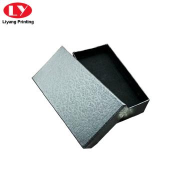 caixa de papel colar de pérolas com inserção de veludo