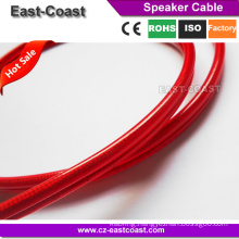 High Shield Transparent Speaker Audio cable roll