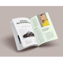 Revista personalizada profissional Pringting Fashion Magazine