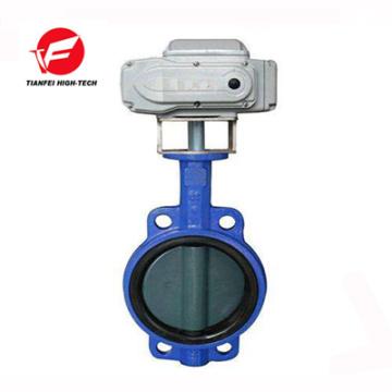24v 220v stainless steel dn200 motorized wafer type butterfly valve
