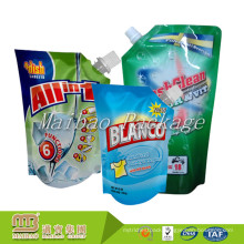 500ml 1L Stand Up Liquid Package Customized Design Reusable Laundry Detergent Powder Packing Spout Pouch