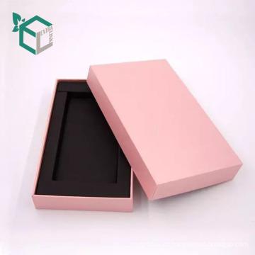 Caja de papel del teléfono del inserto de la espuma blanca natural de la acción de encargo