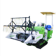 Diesel combined rice harvester mini rice paddy cutting machine