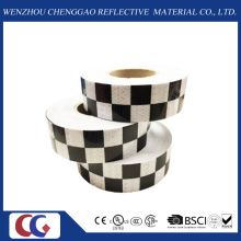 Fita refletora de design preto / branco de grade (C3500-G)