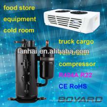 R22 rotary refrigeration refrigerator compressor trucks refrigerator parts R404A lanhai horizontal compressors for freezers