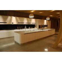 Fábrica de rendimiento estable directamente ensamblaje moderno gabinetes de cocina de laca