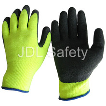 Sandy Latex Work Glove with High Visibility (LY2024)