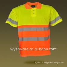 T-shirt d'avertissement de sécurité 100% polyester