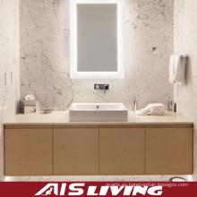 Vanidad de los gabinetes de baño del grano de madera para el hotel (AIS-B007)