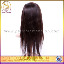 For Black People High Density Straight Hand Tied Human Virgin Chinese Hair Wig