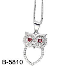 Diseño personalizado búho colgante de joyería de plata (B-5810)