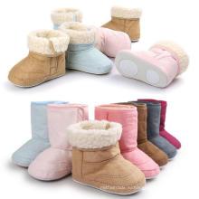 7 Цвета Детские Зимние Ботинки Хлопка Теплая Анти-Слип Мокасины Детская Обувь