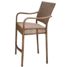 Harz Wicker Outdoor Möbel Rattan Gartenbar Set Stuhl