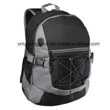 Fashion Black 600d Polyester Sports Backpack Bag