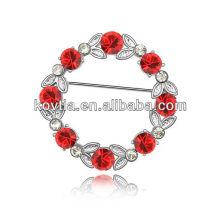 Кристалл горный хрусталь брошь булавки рубин цветок навалом броши оптовые пользовательские брошь