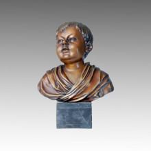 Busts Statue Boy Bronze Sculpture TPE-082