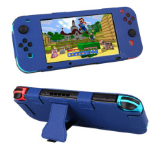 Full Body PU Leather Protective Case Cover Skin Sleeve para Nintendo Nintend Switch Joy-Con NS NX Console Controller Game