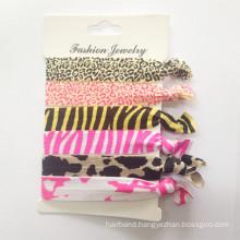 Wholesale Foe Elastic Printed Hair Ties (HEAD-326)