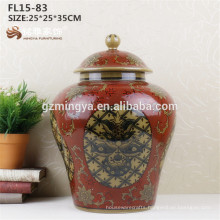 Customized porcelain flower vase red ceramic vase for home decoration Cheap Modern Design Solid White