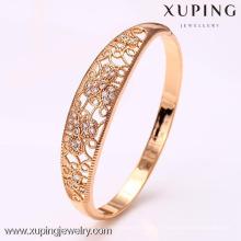 50914 productos calientes de xuping brazaletes de piedra de cristal al por mayor baratos con 18k chapado en oro