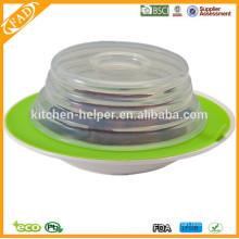 BPA libre de precio de fábrica de alimentos de grado antiadherente de succión de silicona Topper
