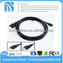 6FT 1.8M Micro HDMI Cable High Speed 3D with Ethernet, HDMI Male to Micro HDMI Male Type D 1080P
