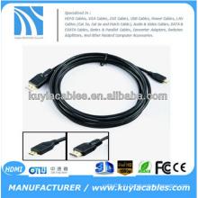 Высокоскоростной 3D-кабель 6FT 1.8M Micro HDMI с Ethernet, HDMI-мужчиной с микро-HDMI, тип D 1080P