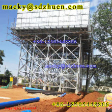 Made in China cold pressed hot galvanized steel water tank on 10m steel structure