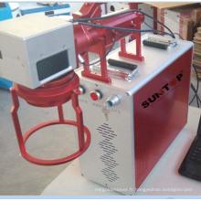 Marqueur laser à fibre optique portable à grande vitesse 20 Watt pour les pièces lourdes et lourdes