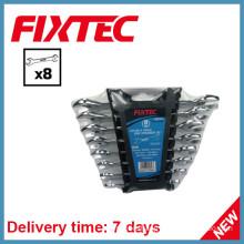 Fixtec Hand Tools Carbon Steel Double Open End Spanner Set