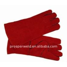 Rote Kuh Leder Schweißen Schutzhandschuhe