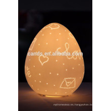 Egg Shape Table Ceramic Lamp