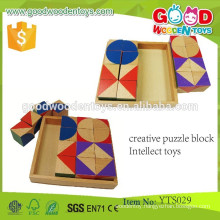 Educational Wooden Block Sets Creative Puzzle Block Intellect Blocks Toys