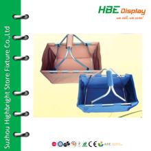 Wholesale folding double handle picnic basket