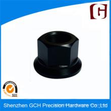 Cabeza de tornillo anodizado negro Piezas de aluminio personalizadas