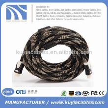 PREMIUM plaqué or HDMI 1.3 Version 6FT 2 blindé blindé 1080p Câble mâle à mâle