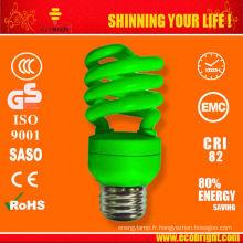 9mm 13W couleur moitié spirale lampe SKD 10000H CE qualité