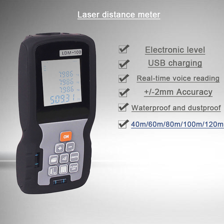 How to measure the 196ft Handheld Laser Distance Meter