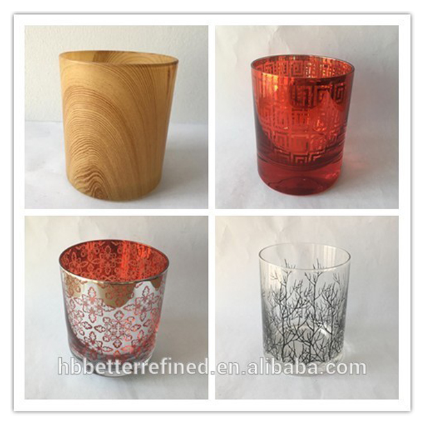 Halloween Amber Mercury Glass Votive Candle Holders Relation