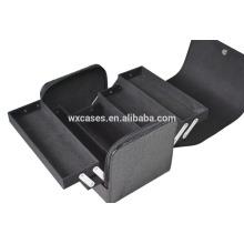 Promocional popular preto pvc saco cosmético com material de nível elevado