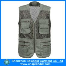 Bekleidungsfabrik Multi Pocket Journalist Weste Made in China